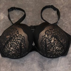 38DDD black bra
